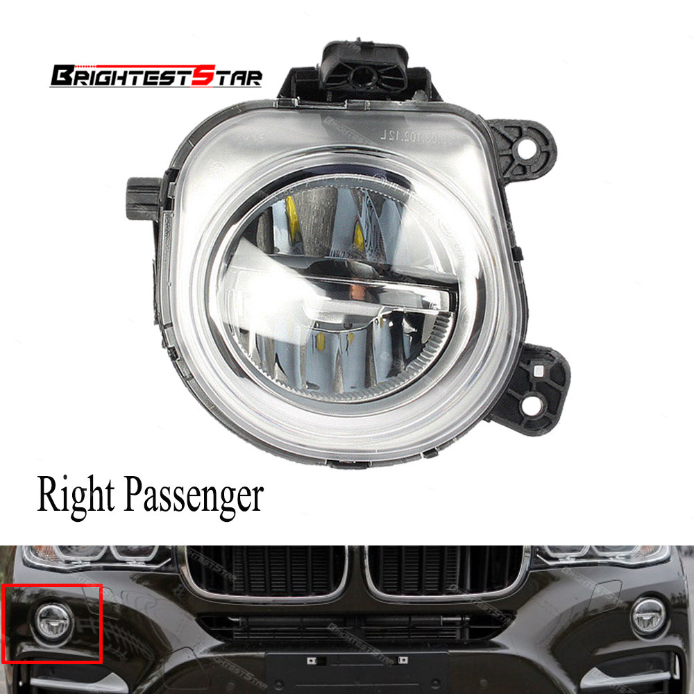 New One Piece LED Fog Light Lamp Left For 2014-2016 BMW X3 X4 X5 X6 63177317251