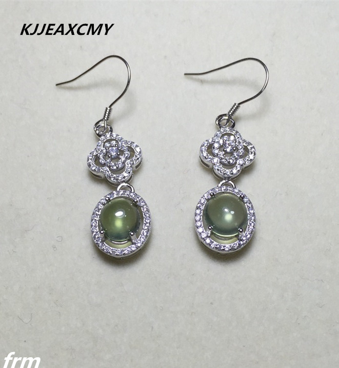 KJJEAXCMY Fine Jewelery Classic natural grape Stone Earrings look beautiful 925 sterling silver inlaid hot models