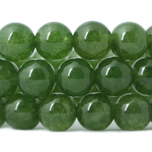 Wholesale Green Stone Round Shape Natural Stone Beads Crystal Energy Stone Healing Power for Jewelry Making 6mm 8mm 10mm 12mm