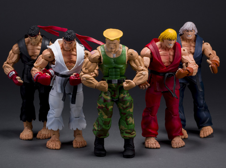 NEW hot 15cm Street Fighter RYU KEN movable action figure toys doll