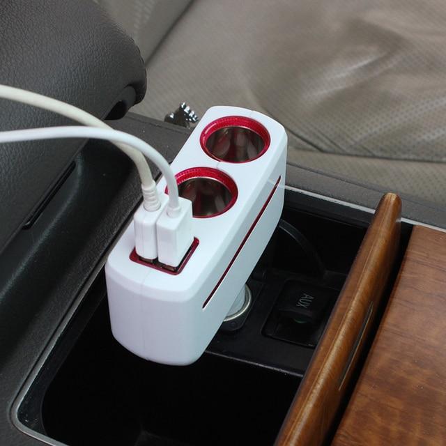 Cigarette Lighter Dual USB Car Charger Splitter Car-styling 5V2.1A 1A cigarette lighter socket splitter Charger Adapter