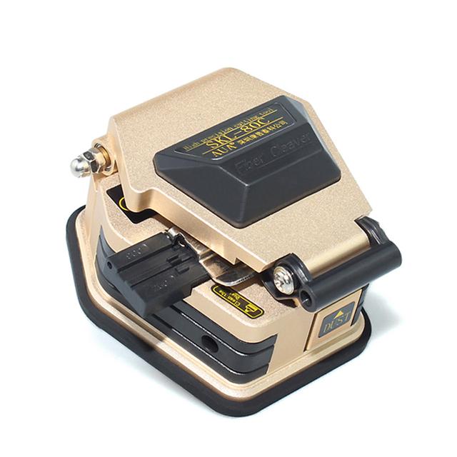 Alta Precisión CNC acabado SKL-80C Oro Cubierto de alambre cable SKL-80C Fiber Cleaver cuchilla de la fibra Utilizada en FTTX FTTH Fusión A Tope