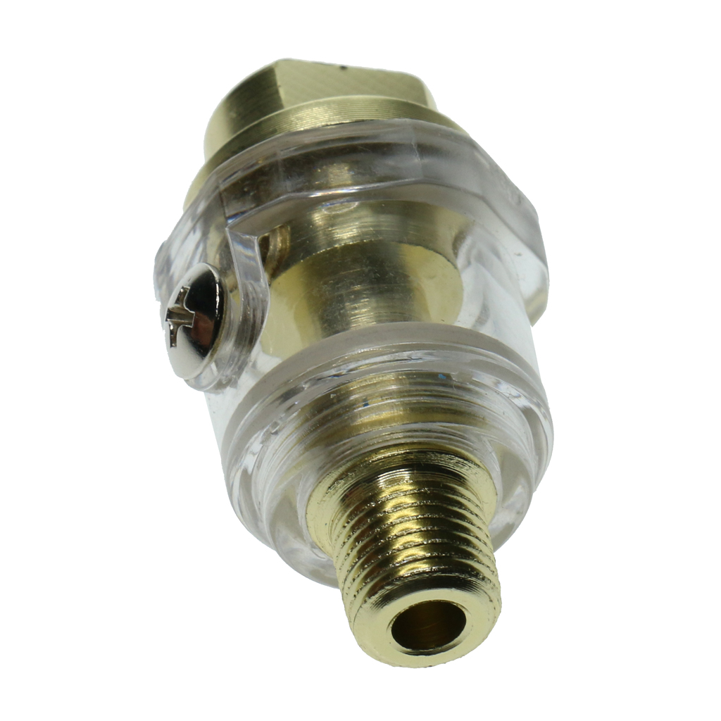 Buy Aluminum 1/4'' Mini Line Oiler Air Tool Oiler Lubricator Compressor Pipe