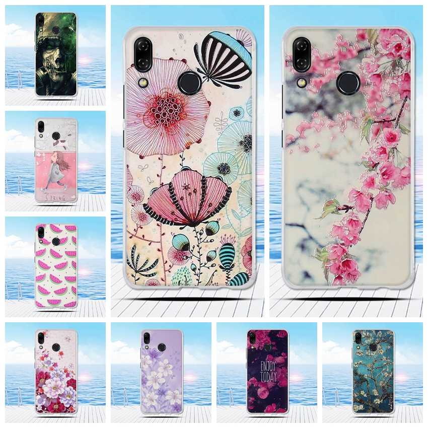 FOR Asus Zenfone 5 ZE620KL Case Silicon Cute Flower Cartoon Painted Soft TPU Case for Asus Zenfone 5Z Case Asus ZS620Kl Cover