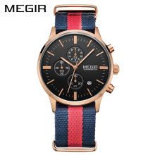 MEGIR Original Men Watch Women Watches Fashion Sport Quartz Watches Canvas Strap Wristwatch Relogio Masculino Clock Men Students
