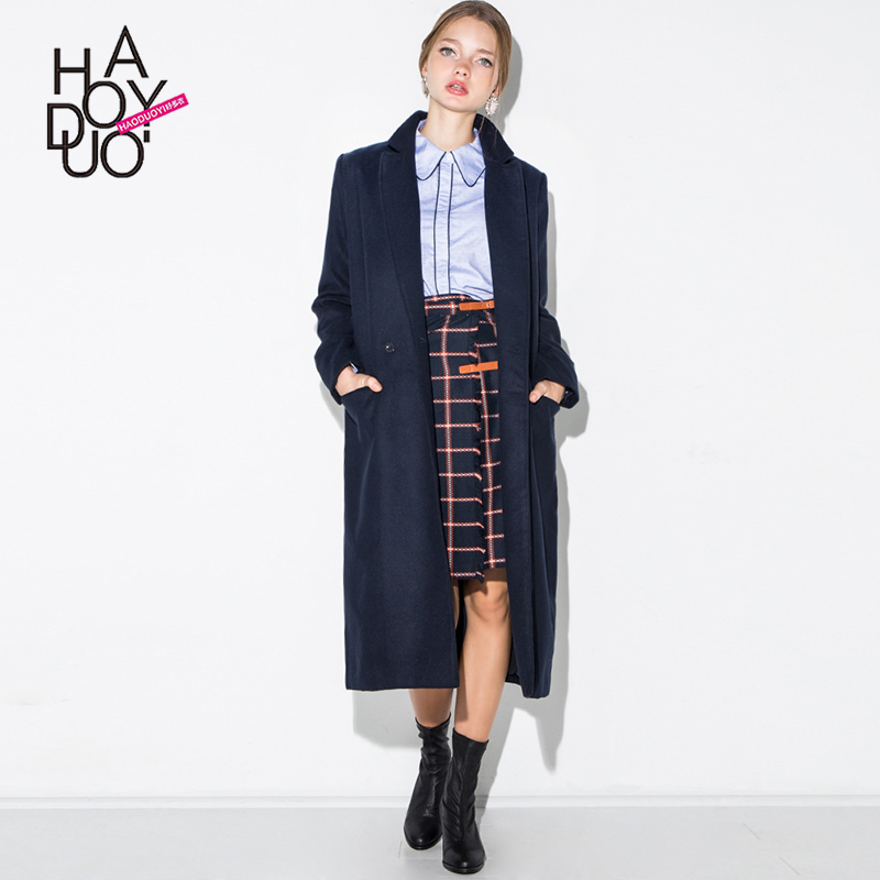 Navy wool trench coat ladies – Novelties of modern fashion photo blog