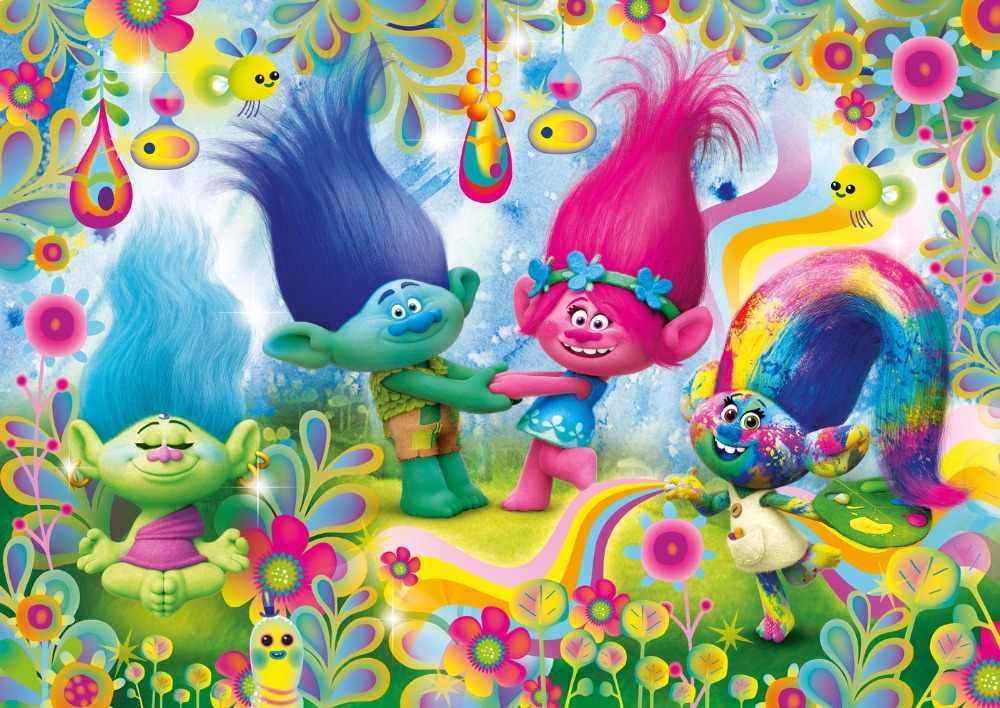 Sensfun Trolls Queque Rainbows Foto Backdrops Cenários de Fotografia Pano Dos Desenhos Animados do Vinil para Photo Studio 5x3ft