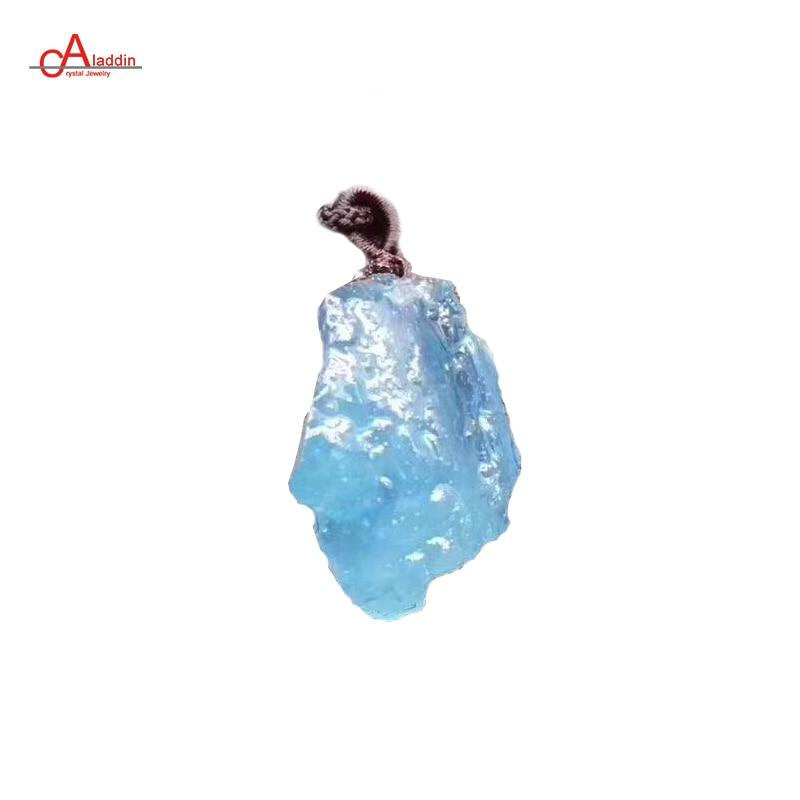 Aladdin Bijoux Cristal 2018 Grand Collier De Mode Naturel Aquamarin Original Pendentif Mâle Collier cadeau pour la mère