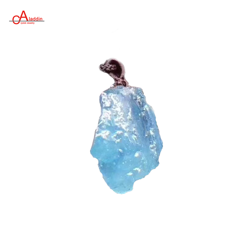 Aladdin Jewelry Crystal 2018 Big Fashion Necklace Natural Aquamarin Original Pendant Male Necklace gift for mother