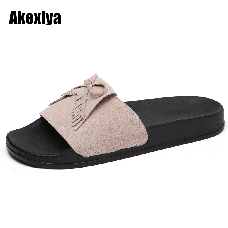 Women Slippers Flat Women shoes Beach Slip On Slides Flip Flops Sandals Fringe  Slipper Tassel Mujer Zapatos m501 covoyyar 2018 fringe women sandals vintage tassel lady flip flops summer back zip flat women shoes plus size 40 wss765