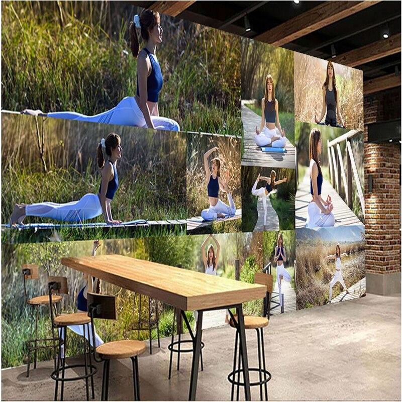 Beibehang Customize Any Size Wallpapers Frescoes Photos Nature Yoga Modern Dreams Aesthetic Yoga Pavilion Walls Papel De Parede Papel De Parede De Paredefresco Photo Aliexpress