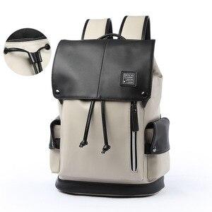 Image 3 - กระเป๋าเป้สะพายหลัง PU หนัง USB ชาร์จแล็ปท็อปกระเป๋าชายกันน้ำ Travel กระเป๋าเป้สะพายหลังแฟชั่นสบายๆคุณภาพกระเป๋า
