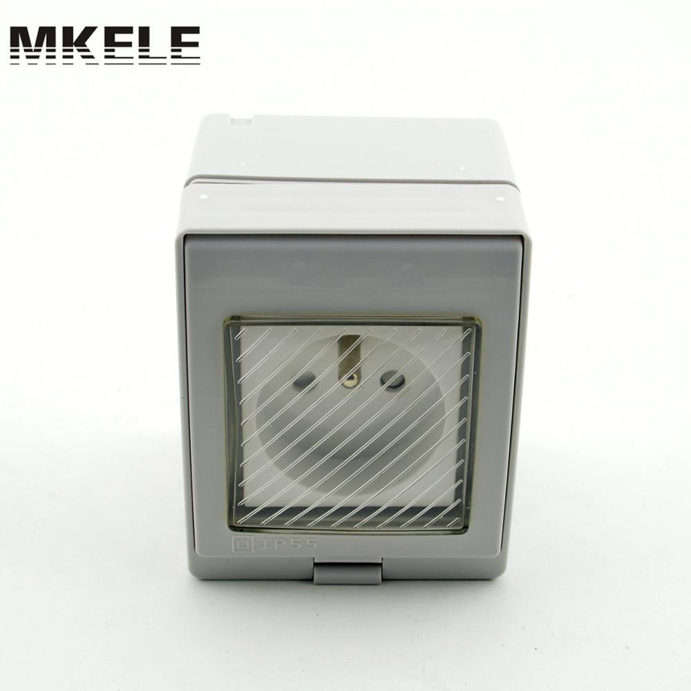 MK-SBFR PVC material low price hot sell electrical wall switch box, IP65 waterproof socket from China manufacturer