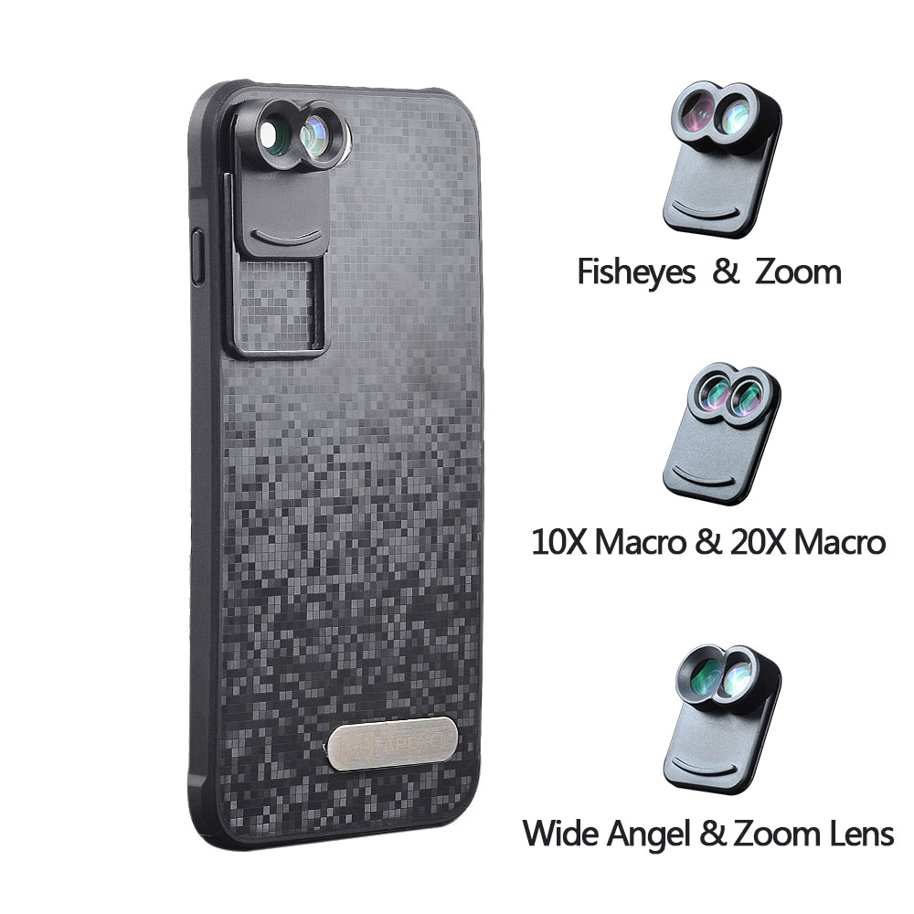 font b 2017 b font New APEXEL Dual Phone Lens Wide Angle Zoom Telescope Macro