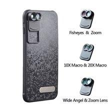 2017 Новый APEXEL Двойной Телефон Объектив Широкоугольный Зум Телескоп Макро рыбий глаз Камеры Объектив Мобильного комплект с Чехол для Apple iPhone 7 плюс