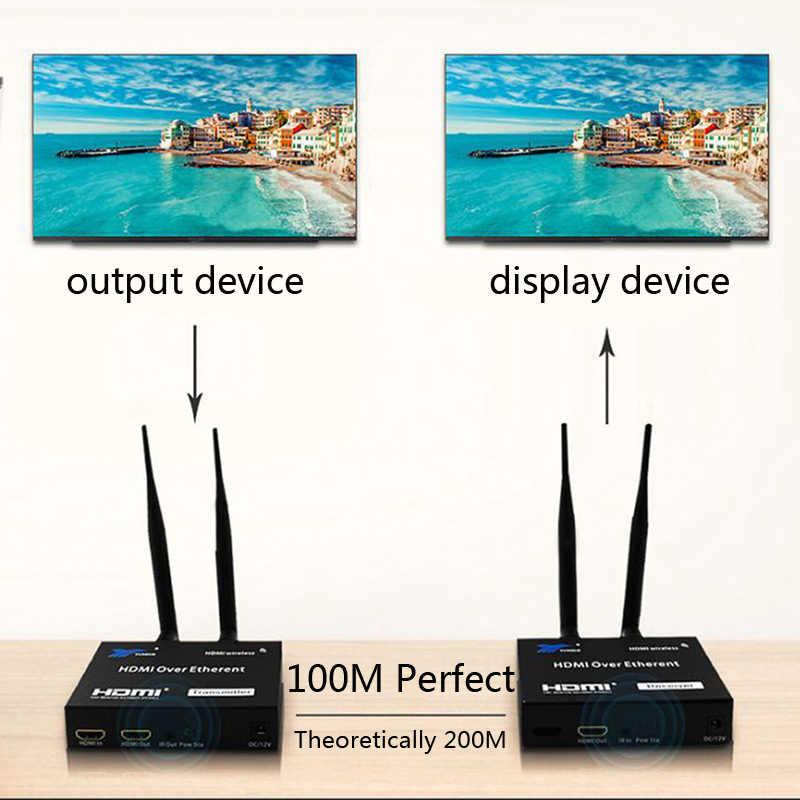 5GHz نقل لاسلكي HDMI موسع جهاز ريسيفر استقبال وإرسال محول الفيديو 100M 200M اللاسلكية واي فاي HDMI المرسل DVD الكمبيوتر إلى التلفزيون