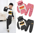 2017 New Boys Girl Baby Kids Long Sleeve Top Hoodie+Pants Trousers Set Sport Tracksuits Batman Sports Suits Baby Clothing Set
