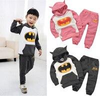 Boy Girl Baby Kids Long Top Hoodie Pants Trousers Set Tracksuits Clothing Batman