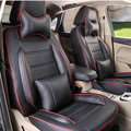 Custom car seat for BMW 3 series breathable seat covers PU leather car cushion cover set front & rear classic car seat protector