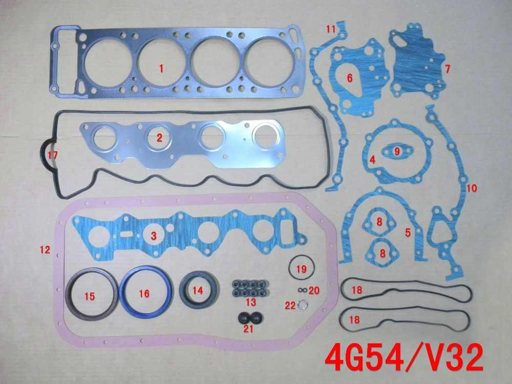 Juego de juntas completas 4G54 para Mitsubishi PAJERO/L047/V32/MORTERO/recogida/STARBO/TURBO 2555CC 2.6L 8 V 83-93 MD997037 50122300