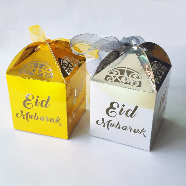 Set Islamic Boxes with Ribbon