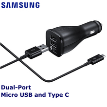 Samsung Original Fast Charge Car Charger EP-LN920 for Galaxy S6 S7 S8 S9 Plus Note 7 9V/1.67A Adaptive Quick Travel Charging все цены