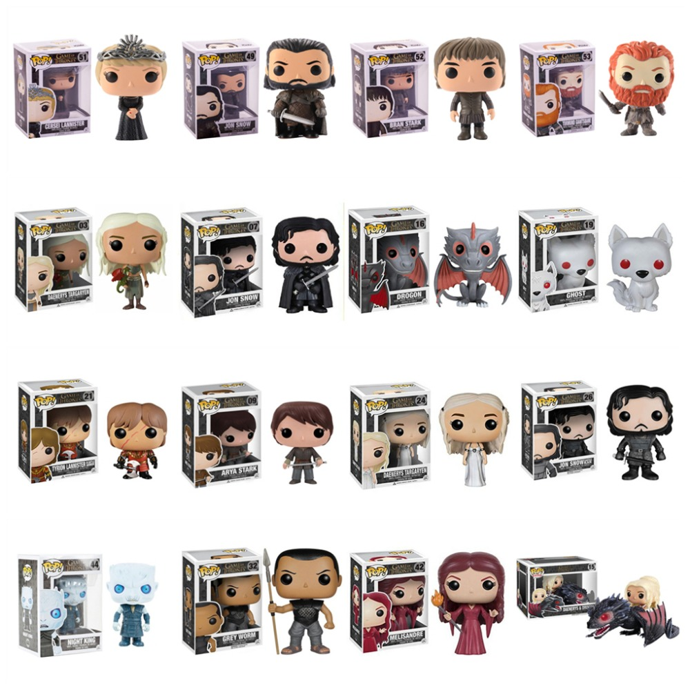 Glorious Funko Pop Game Of Thrones Daenerys Stormborn Jon Snow Night King 10cm Action Figure Collection Pvc Model Toy For Christmas Gift Costumes & Accessories