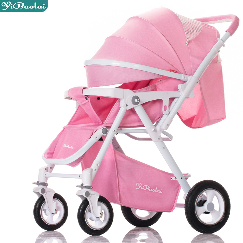 2018 new model Luxury baby stroller can sit can lying  Baby carriage light folding portable summer baby newborn child trolley baby stroller ultra light portable shock absorbers bb child summer baby hadnd car umbrella