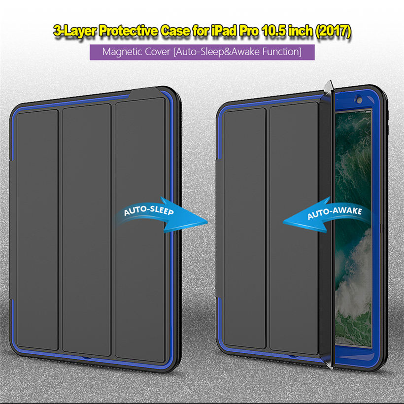 Shockproof Kids Safe Case For new iPad Pro 10.5 2017 A1701 Case Smart Cover Funda Tablet Armor Shell w/Screen Protector Film