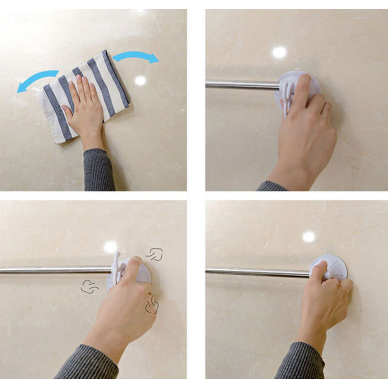 40cm Suction Cup Single Towel Bar Towel Holder Stainless Steel Chrome Finished Bathroom Products Bathroom Accessories