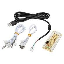 Zero Delay Arcade USB Encoder PC to Joystick Arcade Rocker Circuit Board Control Panel For MAME 2pin + Push Buttons DIY