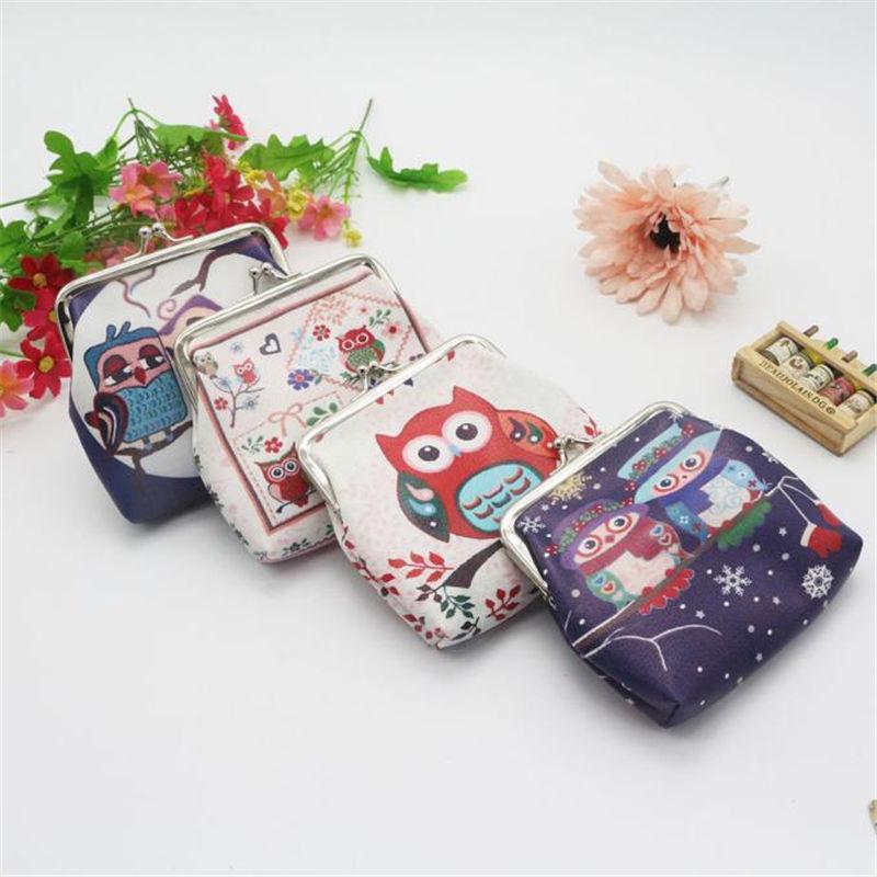 Brand new Coin pouch porte monnaie for Womens Cute owl purse Mini Wallets Card Holder Clutch Handbag ladies 2017 Gift 1 pcs