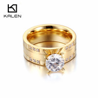 Romantic Cubic Zirconia Ring Rhinestone Jewelry Gold Color Promise Rings For Wife Girlfriend Wedding Favors And
