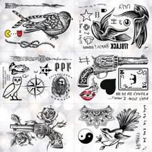 Owl Compass Lion Mask Waterproof Temporary Tattoo Sticker Old School Swallow Skull Flash Tattoos Body Art Arm Fake Tatoo Men все цены