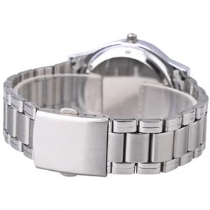 Image 3 - Quartz saat erkekler çelik su geçirmez saat yönünün tersine ters ölçekli yağ kabartma arama bilezik izle moda erkekler İzle erkek saat