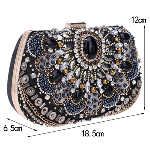 Image 5 - SEKUSA women evening bags beaded wedding handbags clutch purse evening bag for wedding day clutches evening bags embroidery bags