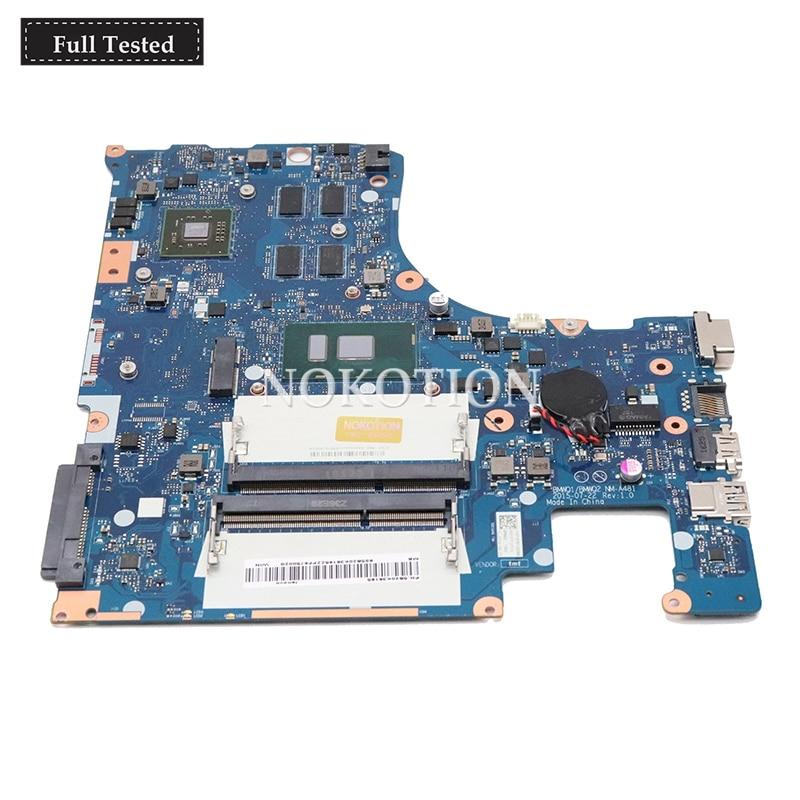 NOKOTION NM-A481 Motherboard para Lenovo IdeaPad 300-15ISK i7-6500U 2.50 GHz DDR3L 2 GB Gráficos Laptop Mainboard Completo Testado