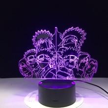3D Lamp Naruto Team Kakashi USB Touch Sensor 7 Color Changing Home Decor Bedroom Table Lamp Minato Sasuke Obito LED Nightlight halloween bat witch acrylic 7 color changing 3d led nightlight bedroom lamp living room lights decoration touch 3d led lamp