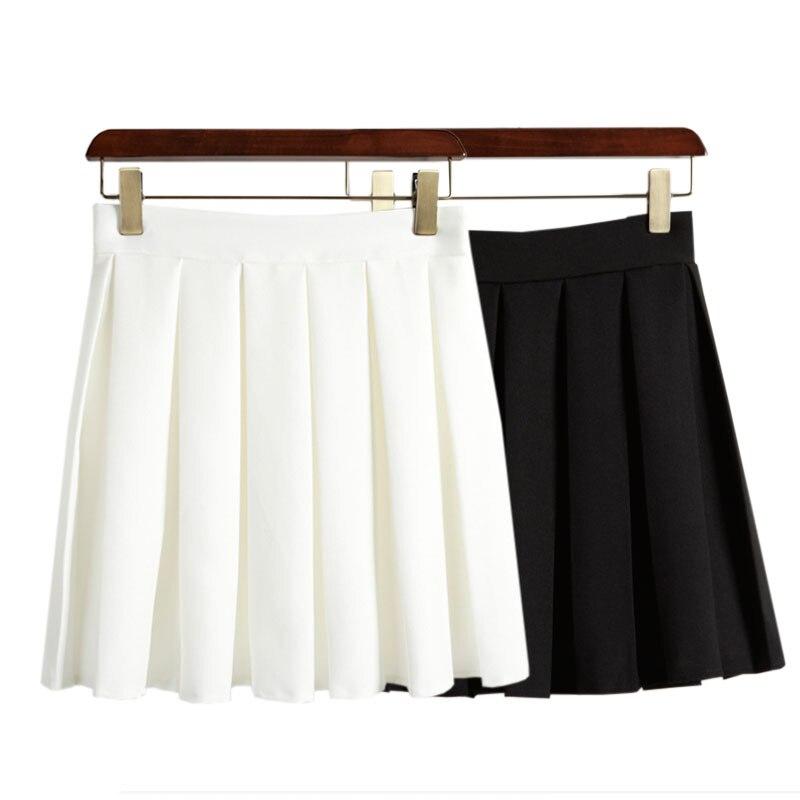 harajuku 2018 Korean summer midi skirt women vintage pleated skirt waist skirts womens sheds women skirt