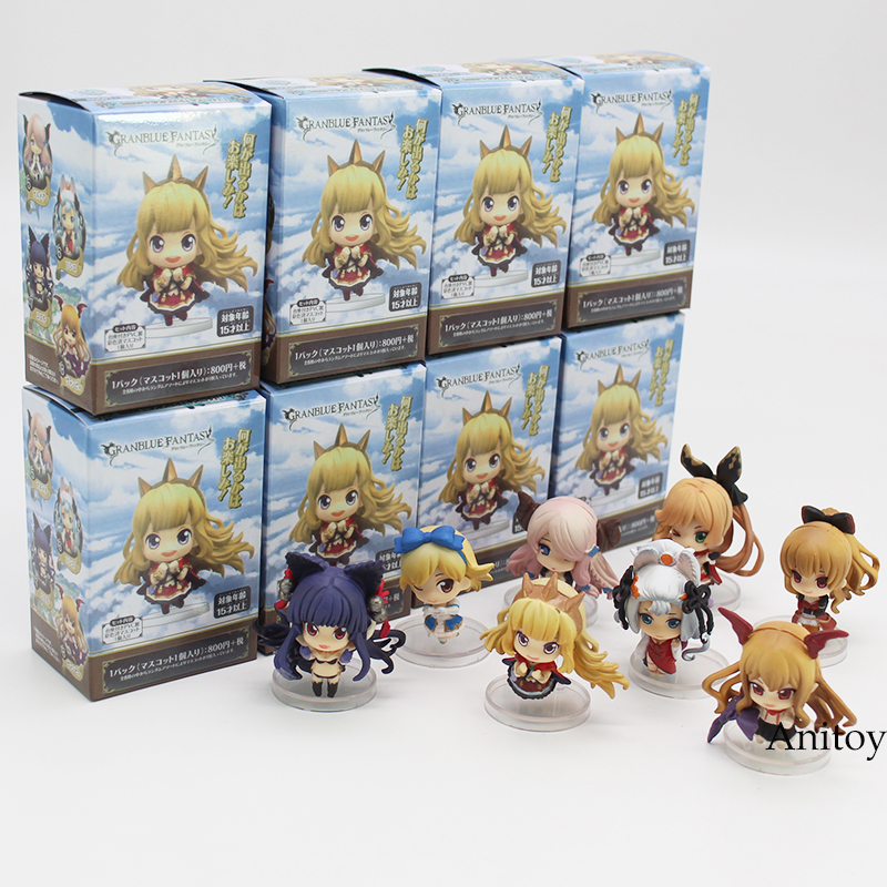 Granblue Fantasy Crystalia Lily Lo Mary Lyria PVC Action Figure Collectible Model Toy 5cm 8pcs/set
