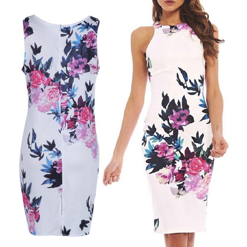 Elegante nuevas mujeres dress floral delgado corto mini summer dress vestido de