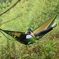 Уличный походный гамак  Сверхлегкий крепкий дорожный подвесной гамак  двойная мебель для отдыха  дорожный гамак с парашютом