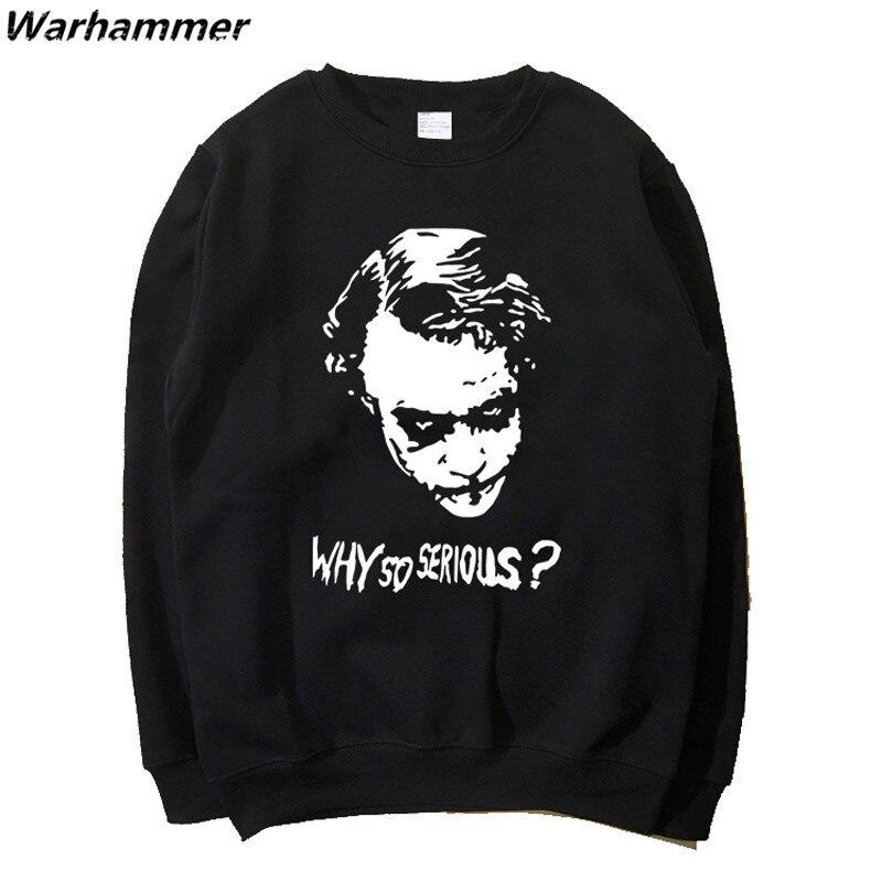 Big Lover Joker Mens Womens Fashion Sweatshirts Dark Knight Why So Serious printed O-neck Hoodies Black S-2XL Autumn sweatshirts