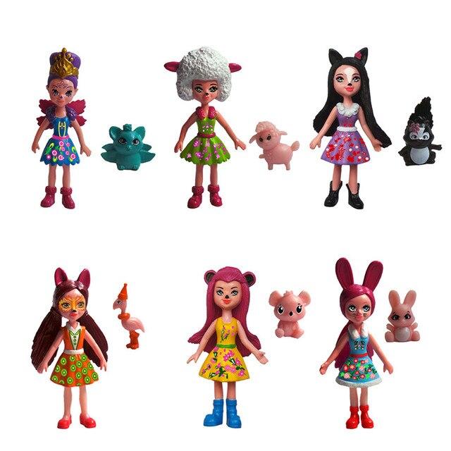 6pcs/set Ever After Dolls Enchantimals series Monster