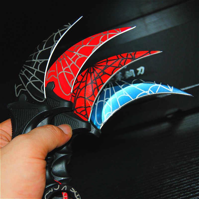 CS ANDARE Farfalla in coltello Karambit coltello pieghevole formazione lama del regalo della lama Pratica balisong coltello non affilata in metallo