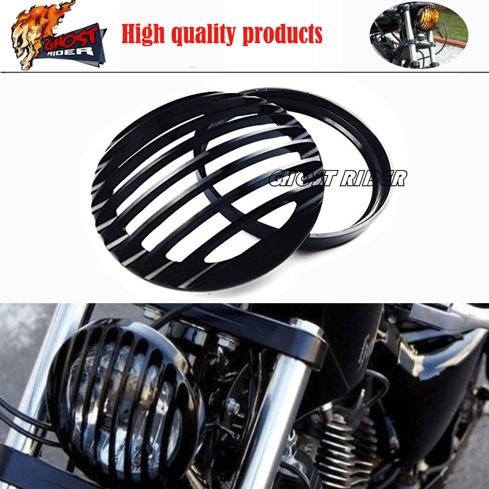 MOTORCYCLE BLACK CNC ALUMINUM HEADLIGHT COVER FOR HARLEY SPORTSTER XL 883 1200