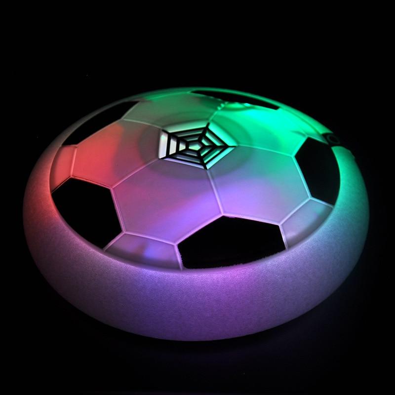 Nuevo clásico juguetes de los niños de suspensión de fútbol LED aire eléctrica cojín de fútbol de disco para niños niño juego al aire libre Juguetes