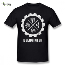 Funny Beergineer Gear T-Shirt T-shirt For Male New Arrival Streetwear For Man Pure Cotton Top Tees man s 3d print man mazinger z hot sale t shirt funny top design pure cotton for male camiseta