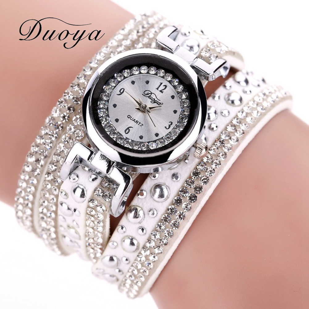 New Duoya Bracelet Watch Women Fashion Rhinestone Watch