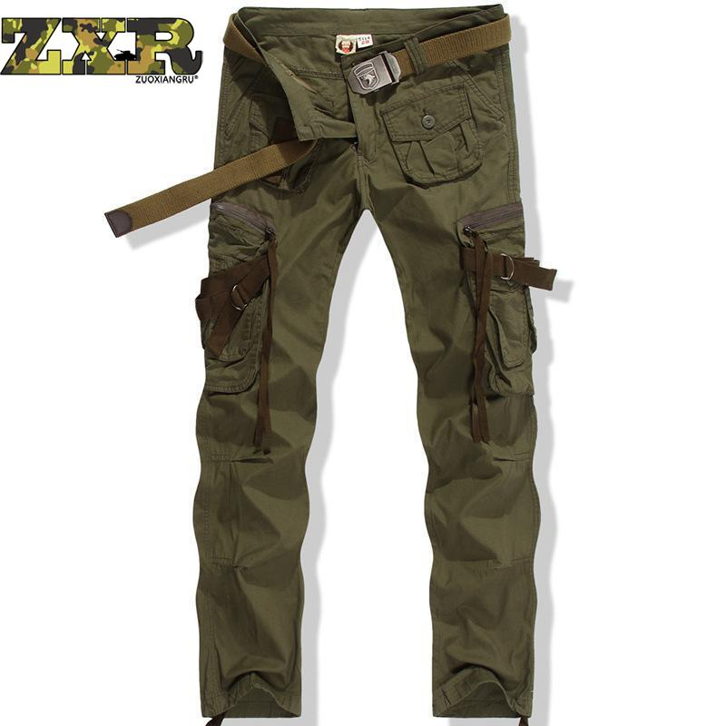 New Track Outdoor Pants Men's Army Military Fans Cotton Dress Hiking Pants Camouflage Army Green Trousers No Belt Tactical Pants mens ripstop tactical pants outdoor camping water repllent hiking pants urban sports trousers army green